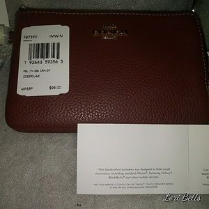Brand New Coach Double Zippeted Wristlet